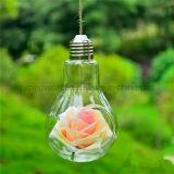 明確なガラス陸生動物飼育器のつぼをハングさせる奉納の蝋燭ホールダーの電球