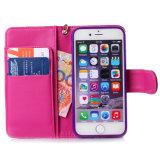 Оптовое выбивая iPhone 6s аргументы за крышки сотового телефона бумажника кожаный