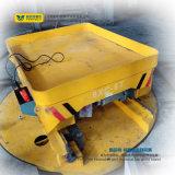 Piattaforma girevole motorizzata elettrica installata sull'incrocio delle rotaie