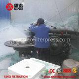 Prensa de filtro auto controlada de membrana del programa para el tratamiento de aguas residuales