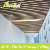 потолок дефлектора коробки цвета древесины 25X100mm алюминиевый