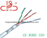 Кабель SFTP Cat5e компьютера 4 пары кабеля/кабеля компьютера/кабеля данных/кабеля связи/тональнозвуковых кабеля/разъема