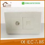 高品質の白いパソコン大きいボタンの戸口の呼び鈴スイッチ