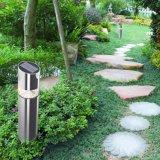 Luz accionada solar al aire libre del césped del jardín LED del acero inoxidable