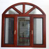 Disegno di vetro della finestra della stoffa per tendine del blocco per grafici di alluminio con la griglia decorativa e la parte superiore fissa dell'arco