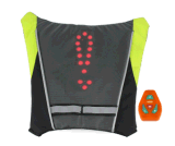 옥외를 위한 자전거 표시등 LED 안전 회전 방향 램프 부대