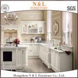 白いカラー現代様式のホーム家具の純木の食器棚