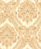 Nuevo papel pintado grande 2017 del vinilo del PVC del papel de empapelar del damasco de la flor de China para decorativo casero