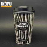 12oz Ripple café quente copos de papel com tampa