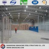 プレハブの鉄骨フレームWorkhopかガラス繊維材料が付いている建物または倉庫
