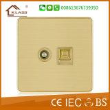 3gang 벽 스위치 금속 입히는 도매 편평한 유형