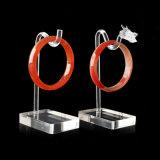 L'étalage acrylique de luxe de bijou étaye le support de bracelet de collier