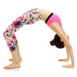 Pantalones cómodos de la yoga de las mujeres de la dimensión de una variable de la carrocería de la tela del nilón/del Spandex