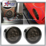 Luz de señal de giro LED para Jeep Wrangler Jk luces de cola LED (Amarillo Turning + White DRL)