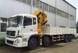 il camion resistente del camion di 270HP 8X4 ha montato con la gru dell'asta
