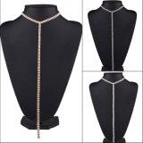 長いセーターの鎖のネックレスの方法贅沢なラインストーンのダイヤモンドのチョークバルブのネックレスの宝石類