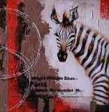 Résumé de la peinture huile sur toile Salle d'art mural de décoration moderne à la main de l'acrylique Peinture texturée de Zebra