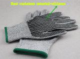 Строка вязки рукавицы рукавицы с Sillicone точек и гильзы Hppe-2391