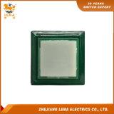 Vert en plastique 33.4mm carré électrique Pbs-008 de commutateur de bouton poussoir
