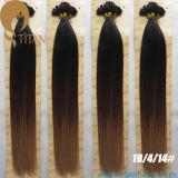 熱い販売のインドのバージンのRemy Ombreの人間の毛髪の拡張