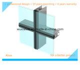 Mur rideau économiseur d'énergie en verre invisible
