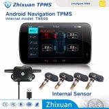 Navegação USB Android do sistema de controlo da pressão dos pneus do TPMS TN601 Sensores internos