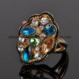 Anillo inoxidable Czr2570 del laminado 18k del diamante del color de la pieza de acero fundido de la joyería de Shineme
