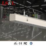 Perfil de alumínio de 1,5m pendente de tecto suspenso linear do sistema de iluminação LED luz de entroncamento
