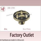 Handvat & Knop van het Kabinet van de Deur van de Legering van het Zink van de Verkoop van de fabriek de het Directe (zh-1391)