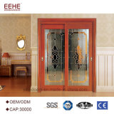 De moderne MDF van de Slaapkamer van de Zaal van de Badkamers Stevige Houten Binnenlandse Deur van het Glas