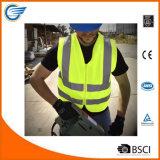 Высокая тельняшка безопасности видимости с застежкой -молнией и стандартом ANSI/Isea
