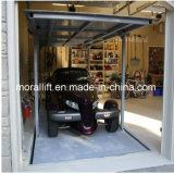 Levage à la maison de véhicule de ciseaux de paquets de double de garage