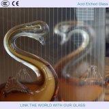2440*3660mm Zuur Geëtste Glas met het Franse In reliëf maken met Glas Satinized met Gezandstraald Glas