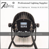 屋外の照明プロジェクトのためのIP65 LEDの同価ライトRGBWA DMX LED平らなプロジェクター9X18W