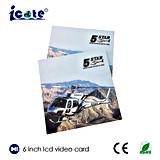 Новая конструкция видеоий LCD книга в твердой обложке 6 дюймов в печати для рекламировать