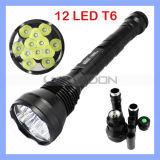 13800 Lumen 12X CREE Xm-L Xml T6 12t6 12 T6 LED Light Flashlight Torch Lamp