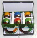 102-6052ABCD-6PCS 고정되는 사기그릇 컵 접시