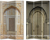 باب تصميم يعيش غرفة نوع خيش وطباعة خشبيّة زخرفيّة يطوي شامة [رووم ديفيدر] [إكس] 3 لوح