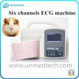 KanäleECG/EKG Electrocardiograph-Maschine des Cer-Tierarztportable-sechs