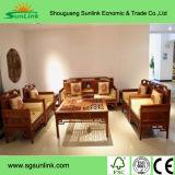 Conjunto de móveis de quarto de cama de solteiro de madeira de pinho sólido