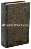 Antigüedades tradicionales relieve Vintage de cuero de PU/almacenamiento de madera MDF cuadro Libro