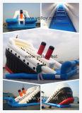 Buque de guerra Titanic inflable diapositivas con piscina