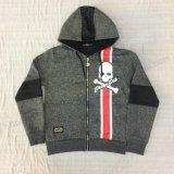 Il panno morbido del ragazzo Chiude con chiusura a lampo-in su il cappotto di Hoodies di sport in vestiti Sq-6448 dei capretti