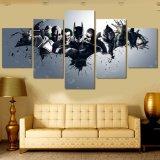Impressions de toile d'illustration d'affiche d'impression de décor de la pièce d'enfants de peinture de groupe d'affiche de film de Batman