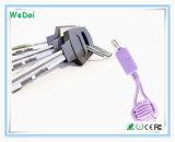 Nuevo cable del USB del teléfono móvil 2017 con Keychain (WY-CA35)