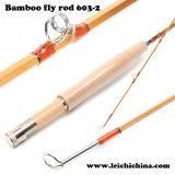 Rodada de pesca com mosca de bambu artesanal de alta qualidade