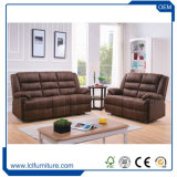 焦茶の優雅な様式の贅沢な家の家具高貴で標準的なファブリック家具のソファーセット