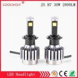 Faro delle lampadine del faro dell'automobile LED di vendita diretta 2s H7 30W 2800lm LED della fabbrica con il prezzo competitivo
