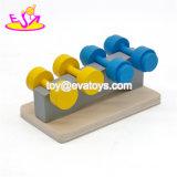 Nova Invenção Kids Ginásio de madeira brinquedo, mini ginásio de brinquedos de madeira de Natal barata para as crianças, equipamento de ginásio bricolage brinquedo para o bebé W06b033
