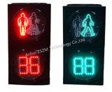 LEDの秒読みのタイマーが付いている最上質の200/300/400mmの通行人の往来ライト